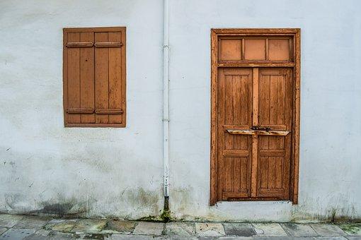 Old House, Facade, Door, Window, Architecture