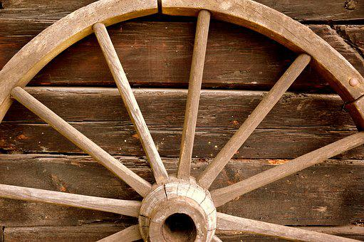 Wheel, Wagon Wheel, Wood, Old
