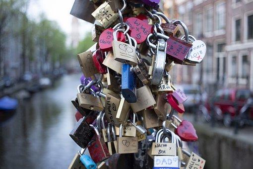 Love Locks, Amsterdam, Holland, Love Symbol