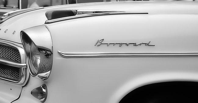 Auto, Borgward, Isabella, Vehicle, Spotlight, Chrome