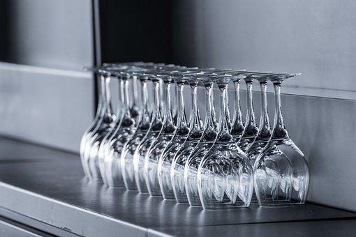 Glasses, Counter, Wine, Reception, Mirroring, Bar