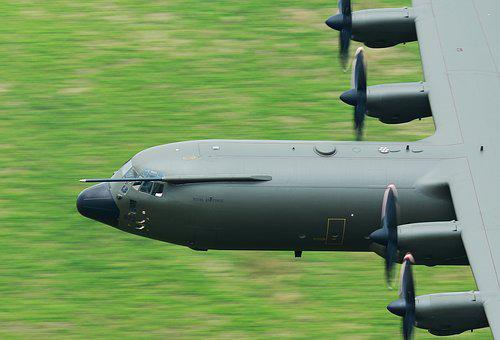 C130, Hercules, Plane, Airforce, Transport, Low Level