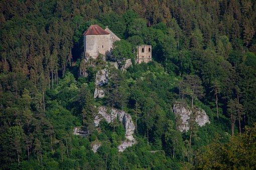Castle, Castle Rock, Fairy Tale Castle, Ruin