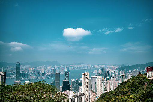 City, Building, City View, Hong Kong, Sky, Clean