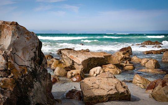 False Bay, Sea, Beach, Coast, Ocean, Water, Landscape