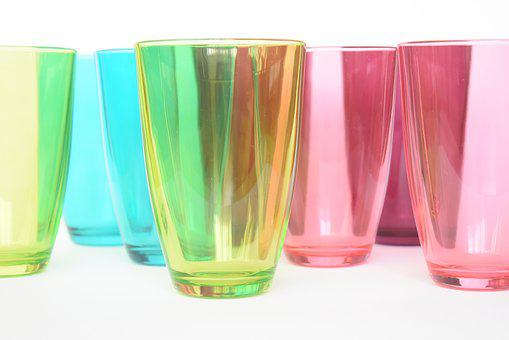 Glasses, Glass, Colors, Colours, Rainbow, Colorful