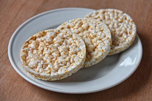 Rice Cracker, Food, Nutrition, Cracker, Rice, Three