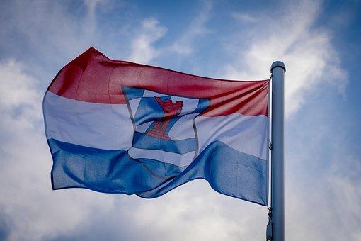 Flag, Banner, Lupburg, Bavaria, Donjon