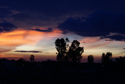 Bangalore, India, Dusk, Twilight