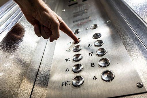 Elevator, Button, Finger, Press, Floor, Lift, Building