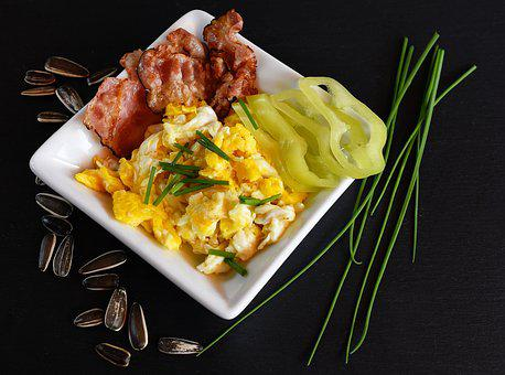 Bacon, Food, Eggs, Salty, Chew, Vegetables, Chive