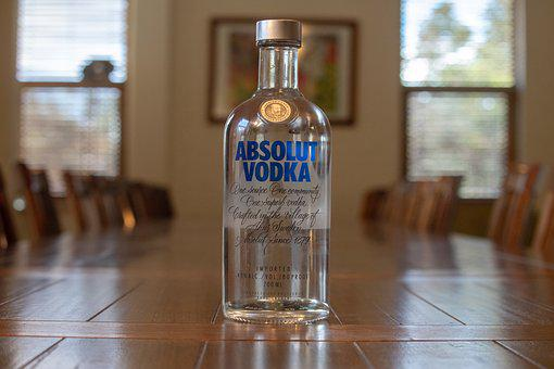 Vodka, Alcohol, Absolute, Alcoholic, Bottle, Glass