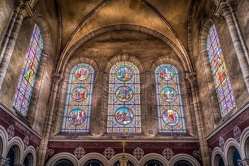 Stained, Glass, Window, Pattern, Colorful, Mosaic