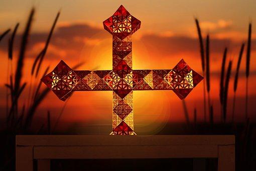 Cross, Christ, Jesus, Religion, Easter, Gold, Faith