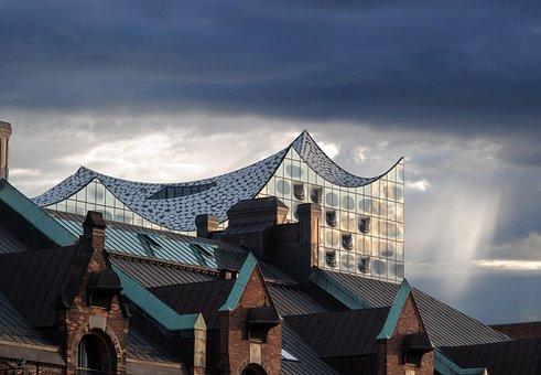 Hamburg, Speicherstadt, Elbe Philharmonic Hall, Brick