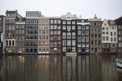 Amsterdam, Canals, Homes, Netherlands, Holland, Channel