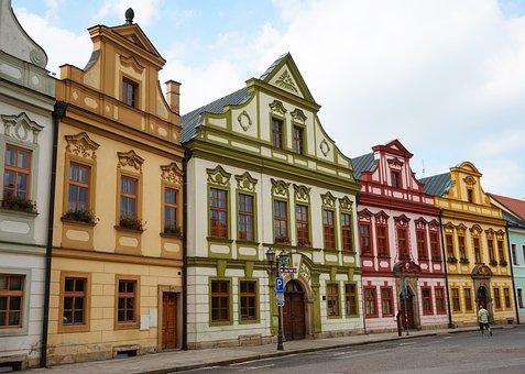 Baroque, House, Czechia, Town, Architecture, Facade