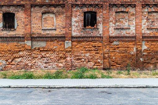 Lake Dusia, Brick, Wall, Old Age, Architecture, House