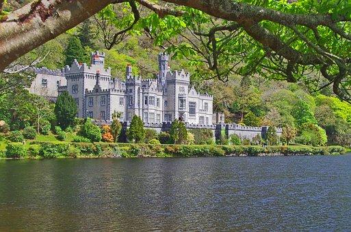 Kylemore Abbey, Ireland, Castle, Building, Abbey