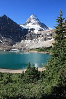Lake, Mountain, Peak, Mountain Lake, Forest, Scenery