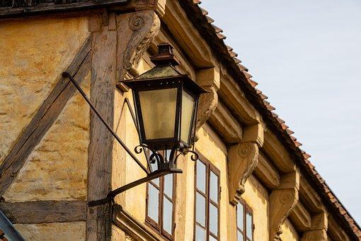 Masonry, Old Fashioned, Lamp, Antique, House