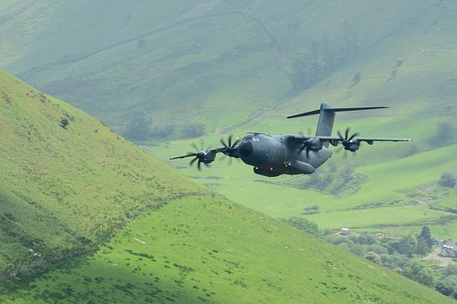 Airbus, A400m, Plane, Airforce, Transport, Low Level