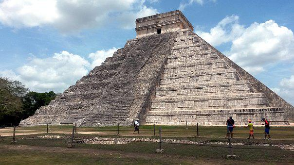 Chichen Itza, Pyramid Of Kukulcan, Mexico, Maya