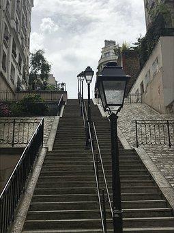 Paris, Montmartre, Perspective, France, Original