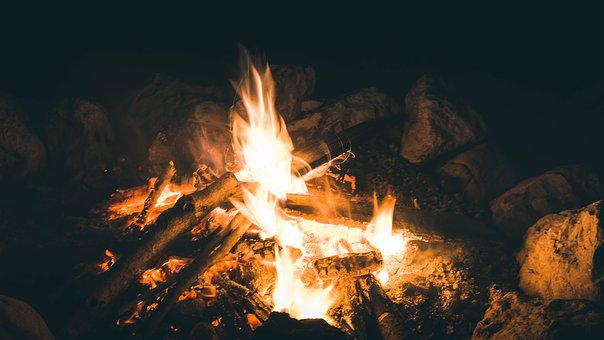 Fire, Flame, Heat, Campfire, Burn, Heiss, Night