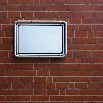 Shield, Sign, Board, Note, Billboard, Wall, Caption
