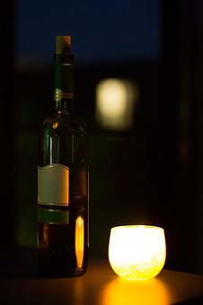 Wine, Candles, Romantic, Mood, Red Wine, Alcoholic