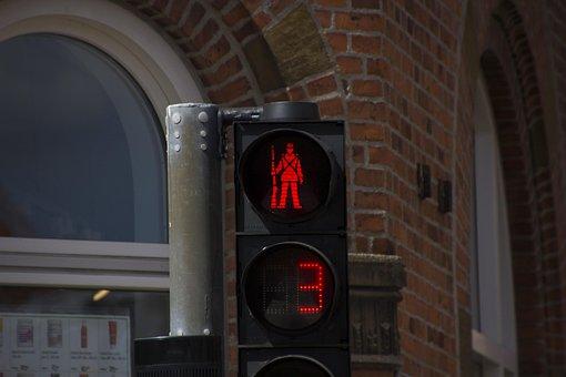 Traffic Lights, Pedestrian, Road Sign, Light Signal