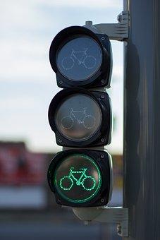 Cycling, Traffic Lights, Bike, Green, Road