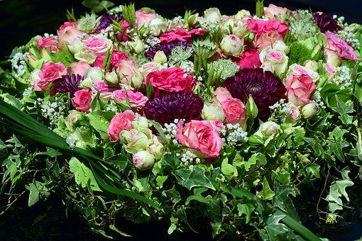 Flowers, Roses, Heart Of Roses, Romantic, Pink, Green