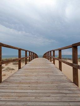 Beach, Cloudy, Walk, Clouds, Sea, Sky, Storm, Sand