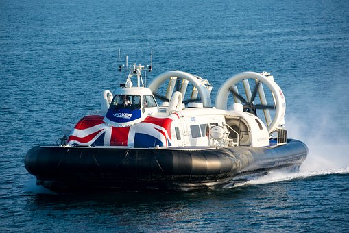 Hovercraft, Speed, Great, Blue