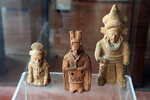 Maya Art, Statuettes Maya, Museo Maya De Dzibilchaltún