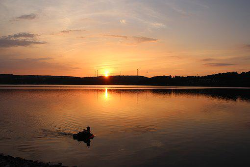 Summer Evening, Sunset, Lake, Abendstimmung, Summer
