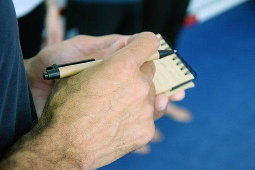 To Write, Clipboard, Notes, Pen, Biro, Map, Notebook