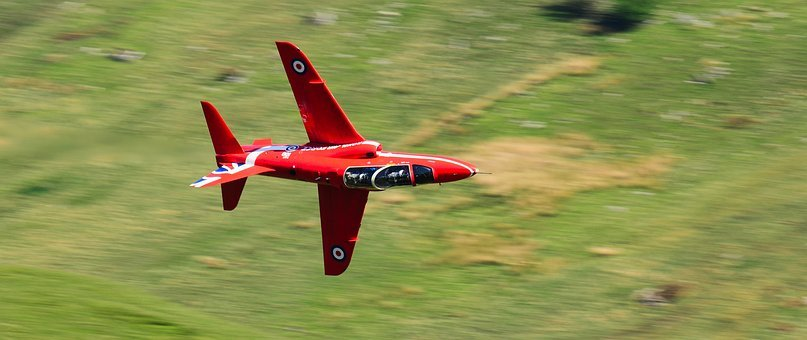 Red Arrows, Training, Lowlevel, Jet, Airplane, Hills