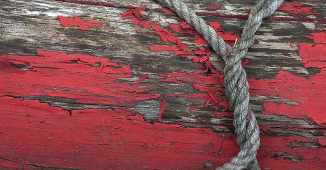 Rope, Trunk, Red, Wood