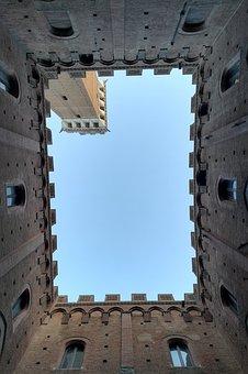 Siena, Fortress, Tuscany, Italy, Palazzo, Torre