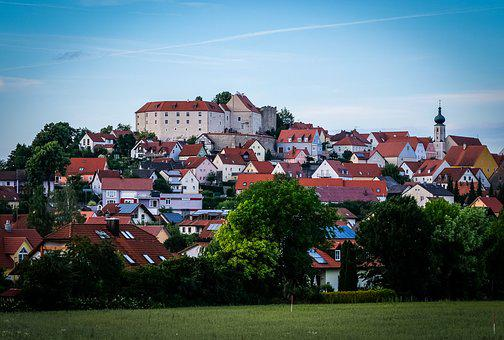 Village, Lupburg, Upper Palatinate, Bavaria, Castle