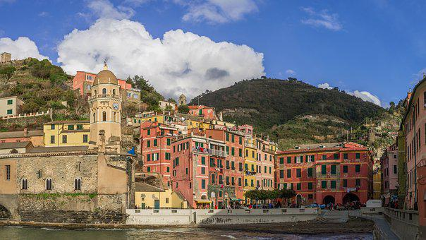 Cinque Terre, Italy, Mediterranean, Vernazza, Scenic