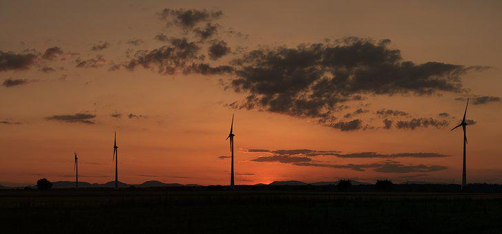 Sunset, Windräder, Wind Power, Energy