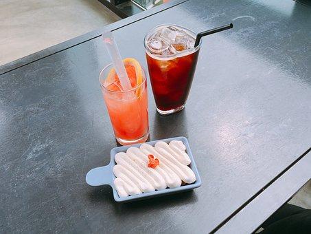 Grapefruit Aid, Americano, Cafe, Break, Carrot Cake