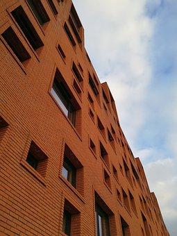 Architecture, Red, Brick, Building, Denmark