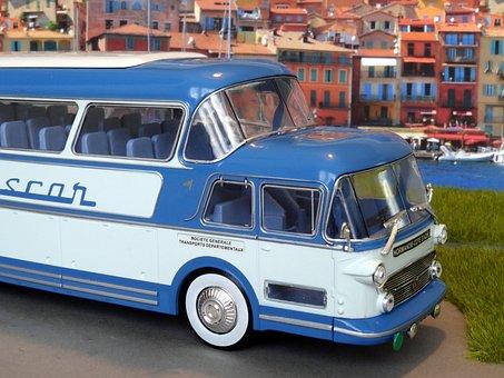 Bus Model, Bus, Oldtimer, Coach, Model Cars, Isobloc