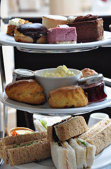 Afternoon Tea, Cake Stand, Cakes, Sandwiches, Tea