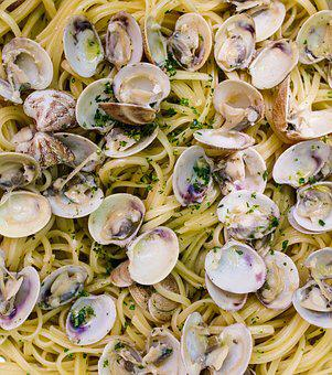 Pasta, Spaghetti, Clams, Street Food, Food, Dish
